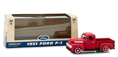 1951 Ford F-1 Pickup Truck Coral Red Flame 1/43 Diecast Model Car by Greenlight 86316