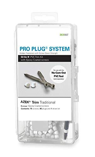 - Pro Plug PVC Plugging System for AZEK Traditional Trim - Epoxy Steel - 75 pcs for 50 Lineal Ft.