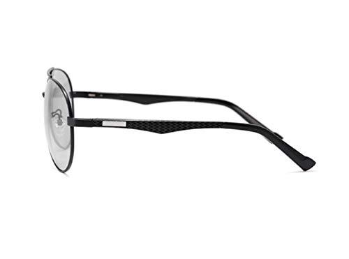 sol Unisex UV400 gafas moda polarizadas gafas de de sol de FlowerKui conducción Black de dtTqT7R