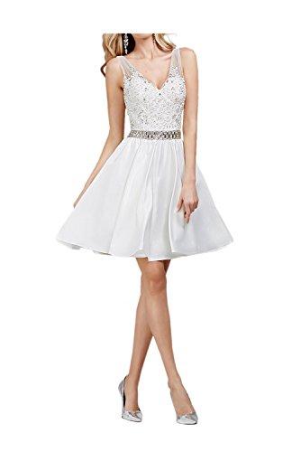Gorgeous Bride Zaertlich Kurz Brautkleider Traeger A-Linie Satin Tuell Spitze Ballkleider Abendkleider Cocktailkleider