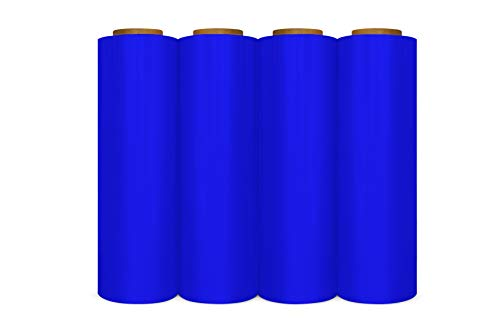 Hand Stretch Plastic Film Pallet Wrap, Blue 18
