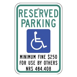 (12x18 Nevada - Handicapped Parking)