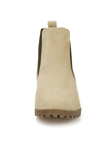 Xzz Zapatos 5 Gris Redonda Mujer 7 Uk8 Beige Botas Punta Cn43 Vestido Botines De Gray 5 Uk4 Beige Eu42 Vellón us10 Negro Casual Cn37 5 Eu37 us6 5 5 Robusto Tacón ddxr0O