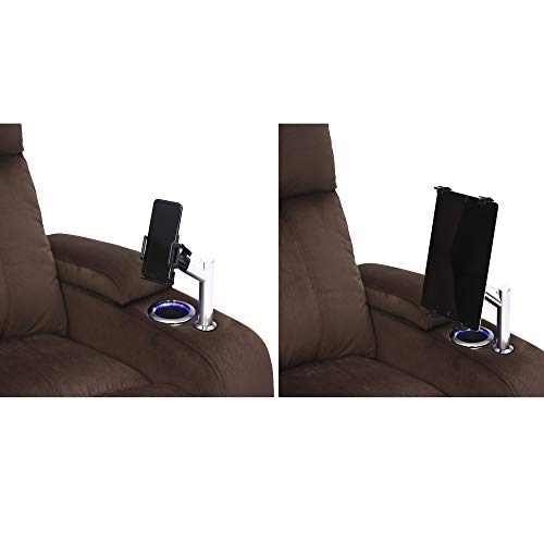 - Seatcraft Tablet and Phone Holder Stainless Steel Accessory Add-On Set for Home Theater Seating
