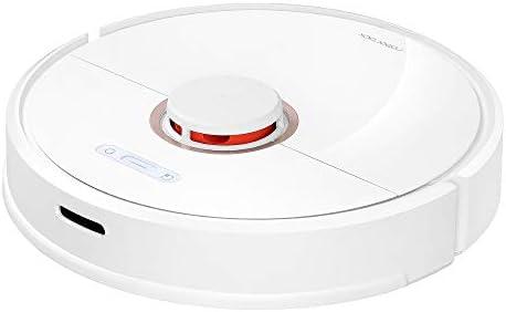 Xiaomi Aspirateur connecté Blanc, Roborock S6 Robot Aspirateur-Balayage et Nettoyage-Auto-Recharge Contrôle Intelligent Planifié-Aspiration : 2000 Pa-Batterie : 150 min (aspirateur /serpillère) - Home Robots