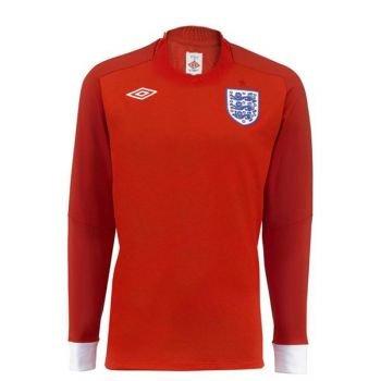 UMBRO England Away Long Sleeve Jersey 2010 - Size (Umbro Long Sleeve)