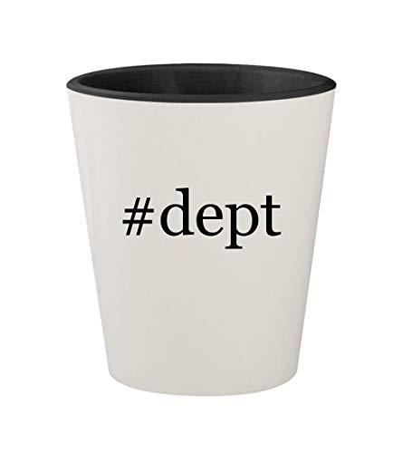 (#dept - Ceramic Hashtag White Outer & Black Inner 1.5oz Shot)