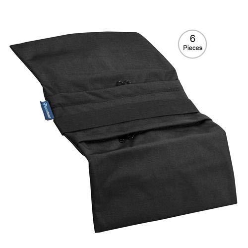 Flashpoint Empty Saddle Sandbag, Water-Resistant Cordura Nylon - (18lb Capacity, Black) (6 Pack) by Flashpoint