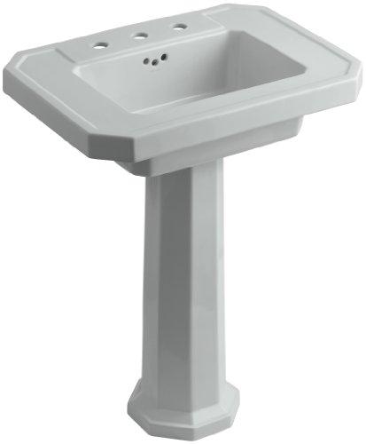 Grey Kathryn Pedestal Lavatory (KOHLER K-2322-8-95 Kathryn Pedestal Bathroom Sink with 8