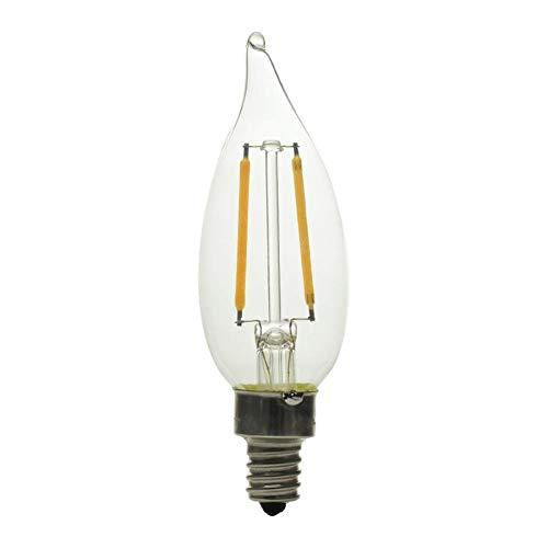 GE ベーシック 12個パック 60W相当 調光可能 温白色 Ca10 LED照明器具 電球 ヴィンテージ ソフト LED 装飾的 枝付き燭台 アンティーク B07GWW9FYH
