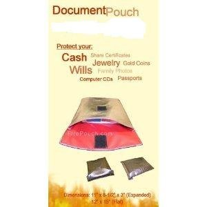 New Large 15 x 12 x 1 Fire Pouch Fire Resistant Document Pouch Made In USA