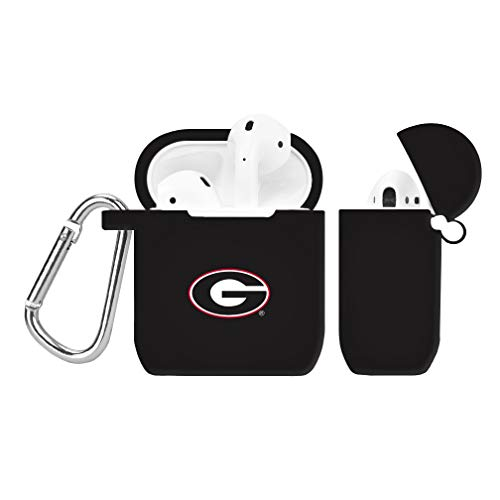 Georgia Bulldogs Silicone Case Cover for Apple AirPod Battery Case - Black