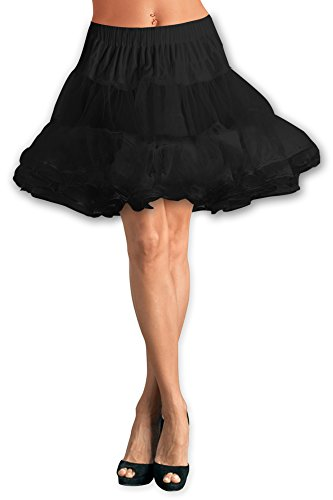 Black-Butterfly-20-Long-Vintage-Satin-Organza-Petticoat