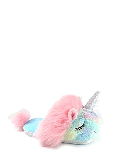 Price comparison product image Unicorn Slippers for Girls Scuff Slip On Bedroom House Slipper Rainbow (4-5 M US Girls)