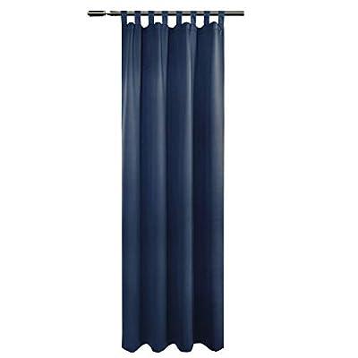 WOLTU Tenda Drappeggio Un Pannello Tenda Oscrutante per Finestra Decorativa da Camera da Letto VH5898dbl 135x245cm Blu Scuro