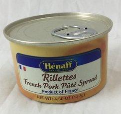 Pork French (Henaff French Pork Rillettes - Traditional Recipe, 127 grams)