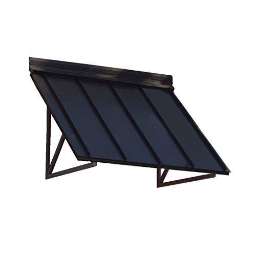 - Awntech 4-Feet Houstonian Metal Standing Seam Awning, 24 by 24-Inch, Black