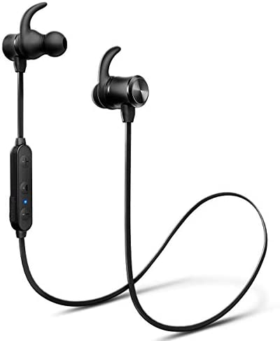 Bluetooth Headphones, iTeknic Wireless Sport Earphones IPX7 Waterproof 16 Hours Playtime Stereo Sweatproof Earbuds with Magnetic Connection for Running Built-in Mic