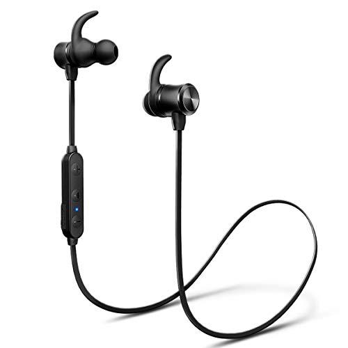 Wireless Headphones, iTeknic Bluetooth 5.0 IPX7 Waterproof 24 Hours Playtime Bluetooth Headphones, with Magnetic Connection, Sports Earphones for Running Built-in Mic (Ip Wireless Headphone)