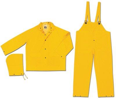 - River City Rainwear 2X Yellow Classic .35 mm PVC On Polyester Rain Suit