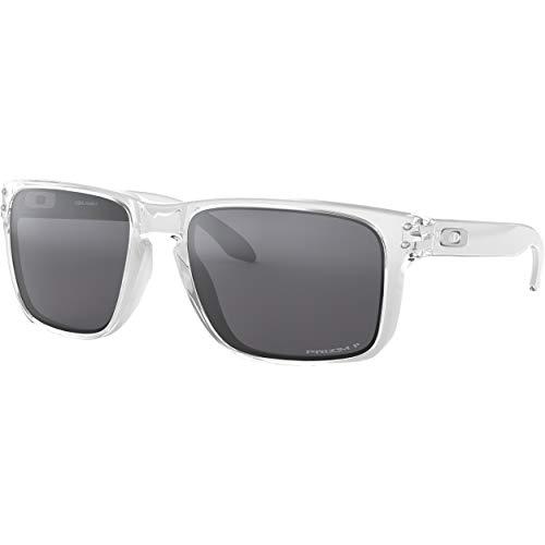 Oakley Holbrook Sunglasses/Polished Clear/Prizm Black Polarized (9102-H355) (Oakley Holbrook Sonnenbrille-matte Black)