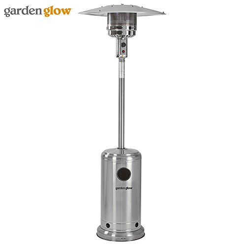 Garden Glow 13000W Stainless Steel Gas Patio Heater with Variable Power Control for Outdoor Use (Gas Patio Heater)