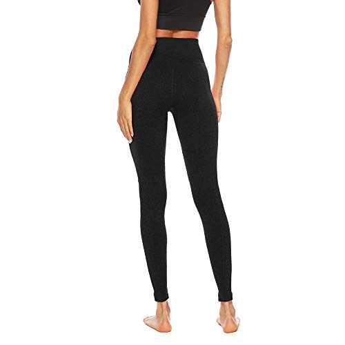 Women's Fitness Sport Capris Solid Line High Waist Workout Ruche Booty Thights Yoga Athletic Leggings (XL, Black) by FDSD Women Pants (Image #2)