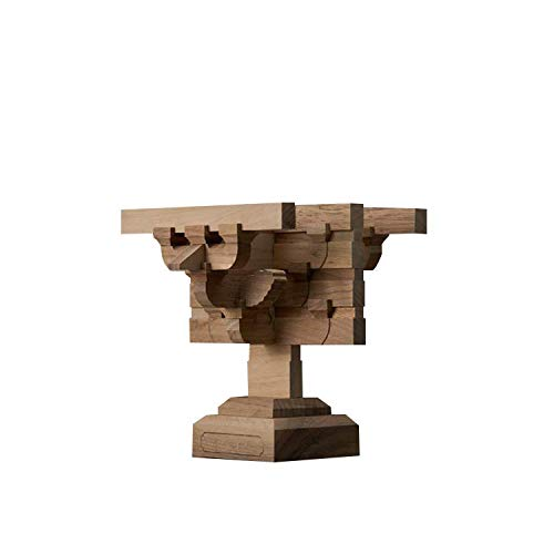 Dougong Interlocking Wooden Pillar Bracket Set Model Kit in Traditional Chinese Architecture from Buguang Temple East Hall Tang Dynasty ca 700AD