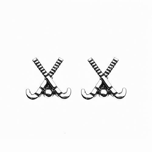 Sportybella Field Hockey Stud Earrings, Field Hockey Stick and Ball Jewelry, Field Hockey Gifts, Field Hockey Charm Earrings, for Field Hockey Players