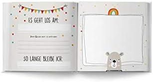 Jedes Buch EIN Unikat f/ür Kiga Personalisiert mit Wunschnamen Erinnerungsalbum an das 1 Jahr im Kindergarten f/ür M/ädchen und Jungs