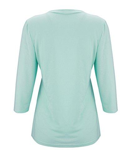 Tops Jumper Maglietta e Primavera Shirts Moda Quotidiani Collo Blouse Casual Camicie Bluse Verde Felpe Rotondo T Stampa Maniche Autunno Freestyle 4 3 Donne q4tZHH