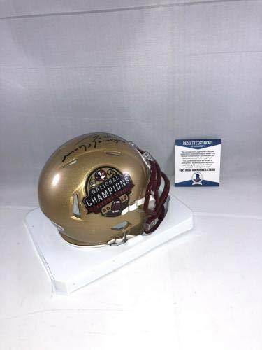Beckett Authentication Devonta Freeman Signed Florida State Seminoles National Champs Mini Helmet Bas 2