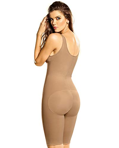 Leonisa Women's Full Bodysuit Slimming Shaper, Natural tan, L