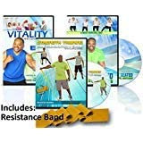 Senior Exercise Workout Video: 3 DVDs + includes resistance band with Curtis Adams. All exercises are demonstrated sitting and standing