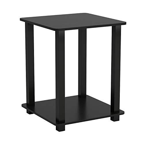 Furinno 12127EX/BK Simplistic End Table, Espresso/Black, Set of 2 - bedroomdesign.us