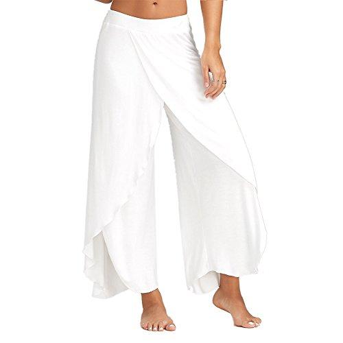 white pants with split - 2