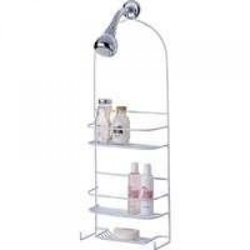 Homebasix SS 5786 PE 3L Deluxe Shower Caddy product image
