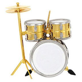 Gold Drum Set Ornament -
