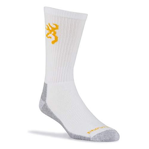 Browning Mens Alder Work Boot Socks | Black | Size Large | 3 Pairs