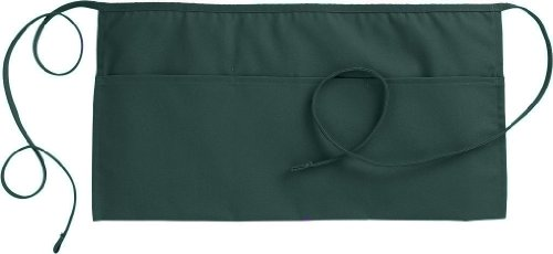 Fiumara Apparel 3 Pockets Waist Apron Poly Cotton Commercial Restaurant Kitchen Ideal for Professionals - Hunter Green | 12