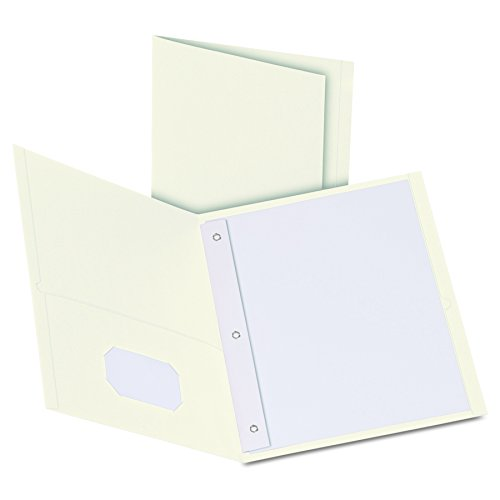 Oxford Twin Pocket Folders with Fasteners, Letter Size, White, 25 per Box - Oxford Store Outlet
