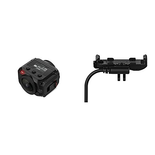 Garmin Virb 360 - 360-degree Camera and Powered Vehicle Mount Bundle (Motorcycle Garmin Waterproof Gps)