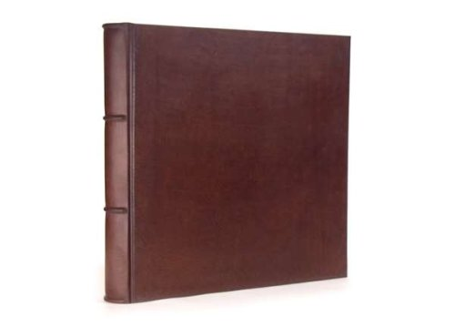 Italian Leather Photo Album/Scrapbook with 100 Archival Black pages. Premium Quality - Handmade. Large - 12x12in. by EPICA
