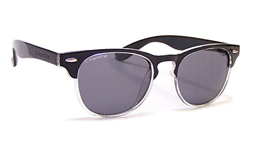 Polarized Street and Sport Sunglasses ,Black Frame/Clear/Gray - Eyewear Uptown