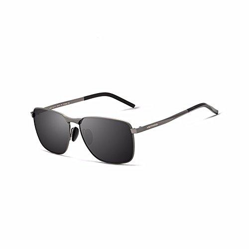 sol mujeres para hombres gafas UV400 de de Los negro marca Men's sol gafas polarizadas hombres de Vintage de Accesorios Gafas lente wTwqnHU4aO