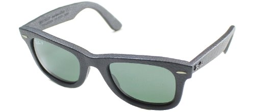Ray-Ban Sunglasses - RB2140QM / Frame: Black Leather Used Lens: Polar Neophan - Sunglasses Ban Leather Ray