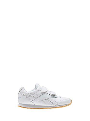 Reebok Royal Cljog 2 2v, Zapatillas de Running para Niños Blanco (White / Cloud Grey / Gum 000)
