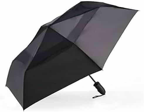 WillowswayW Unisex Portable Rain Sun Automatic Umbrella Travel Folding Windproof Parasol