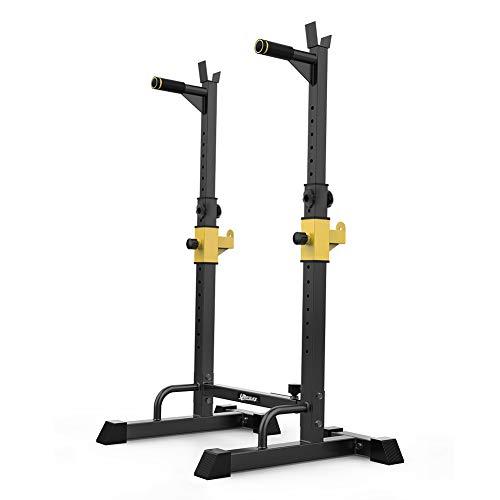 UBOWAY Barbell Rack Squat Stand Adjustable Bench Press Rack 550LBS
