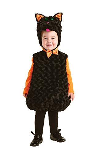 (Underwraps Toddler's Black Cat Belly Babies Costume, Black, Large)